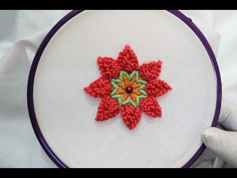 Hand Embroidery Cast On Knot And Bullion Knot Stitch Youtube
