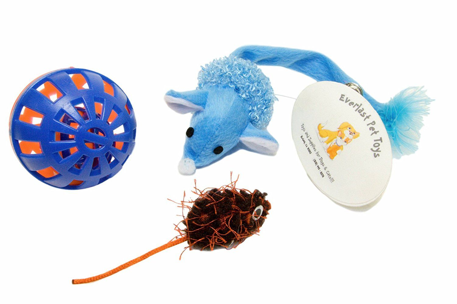 Everlast Pet Toys Bell Toy And Mice Bundle For Cats Multi