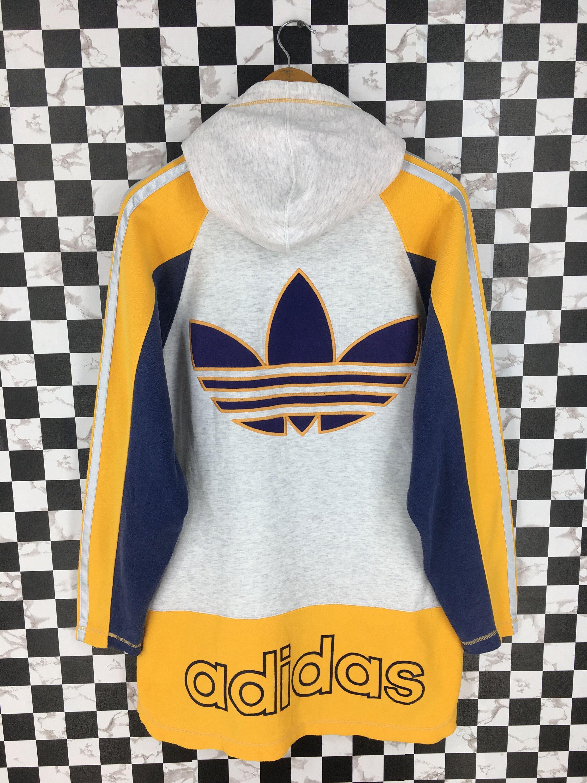 Vintage 90 S Adidas Run Dmc Sweater Hoodie Medium Adidas Trefoil Multicolour Three Stripes Sportswea Adidas Vintage Jacket Mens Fashion Sweaters Casual Stylish [ 3000 x 2250 Pixel ]