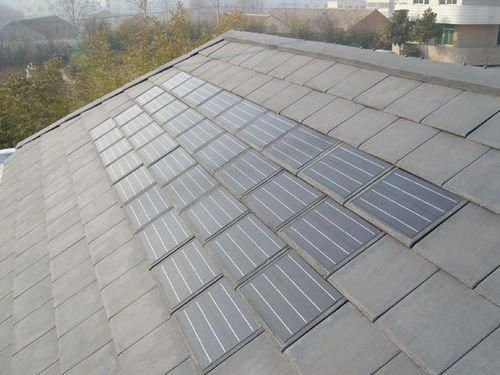 Fangxing Latest Patent Is A Revolution In Roofing History It S A Perfect Combination Of Photovoltaic Solar Module And Stone Slate Integrates 12 Mon With Images Solar Panels