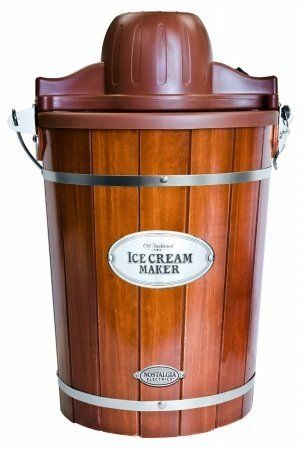 Nostalgia Icmp600wd 6 Qt Ice Cream Maker By Nostalgia Products Group Continue To The Produc Old Fashioned Ice Cream Electric Ice Cream Maker Ice Cream Maker