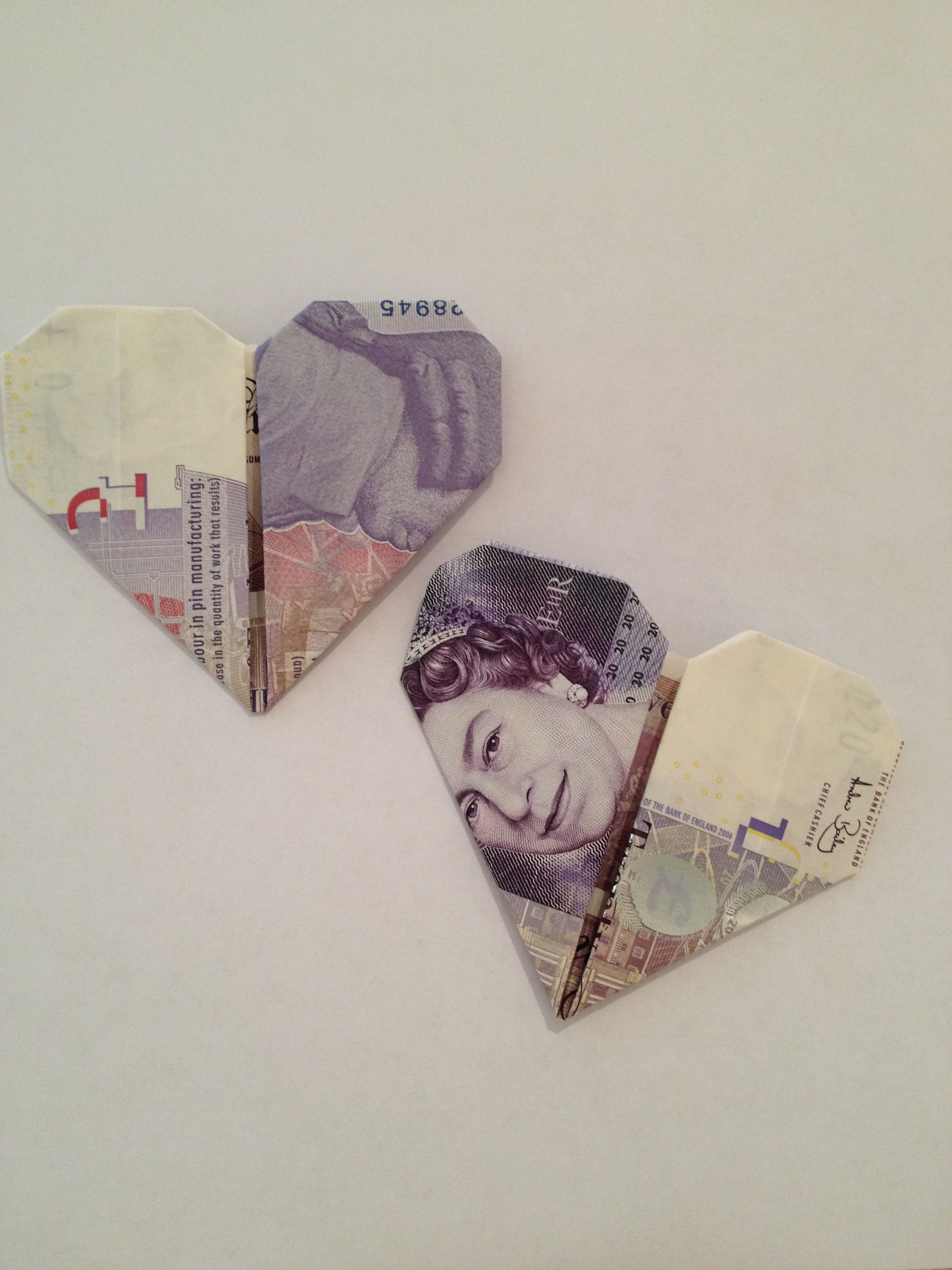 Money origami HEART ❤️ Dollar bill origami heart folding ... | 3264x2448