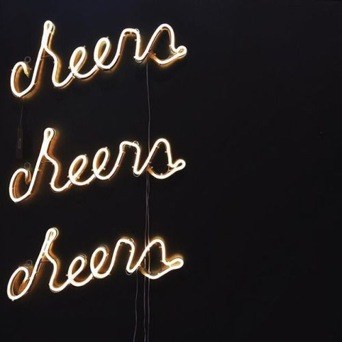 Cheersss Neon Words Neon Signs Signs