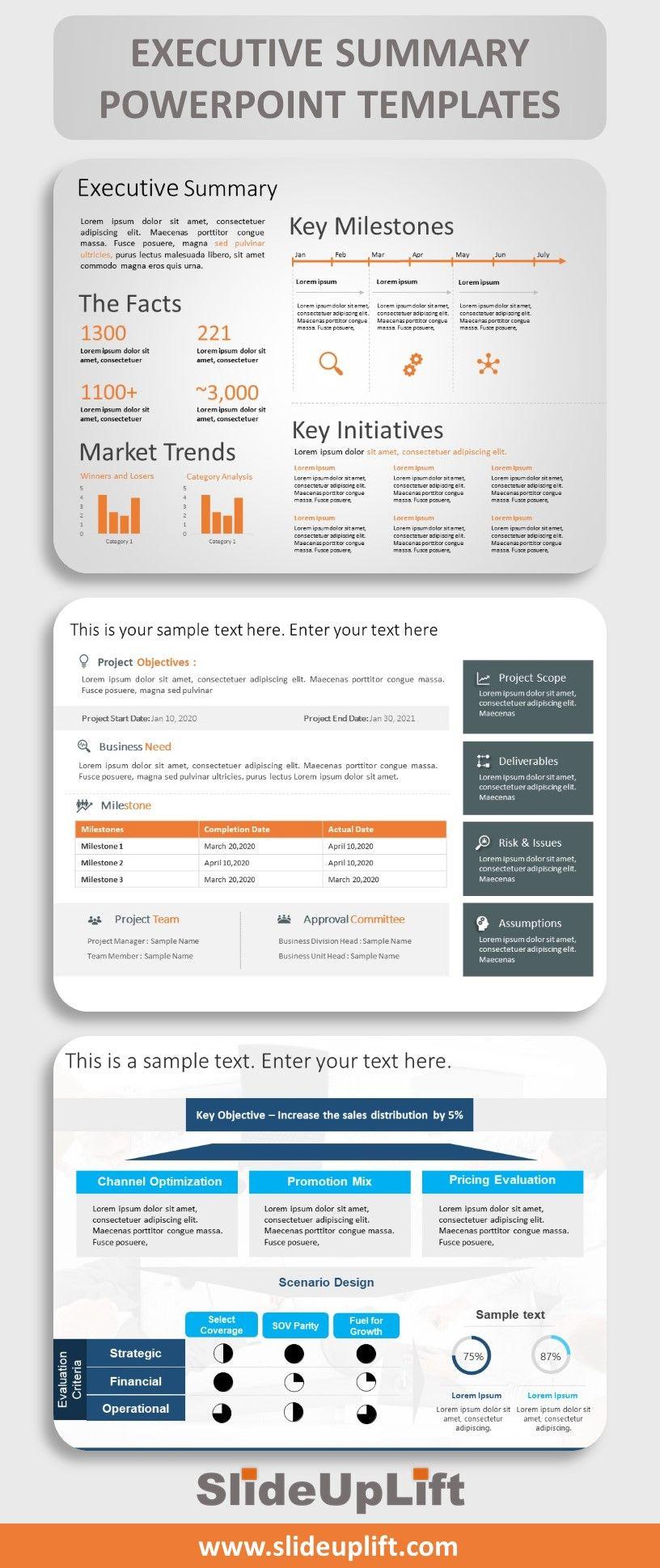 Executive Summary PowerPoint Templates SlideUpLift in