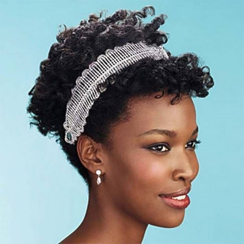 cute short curly hairstyles with headbands for black women  c6e691a6944
