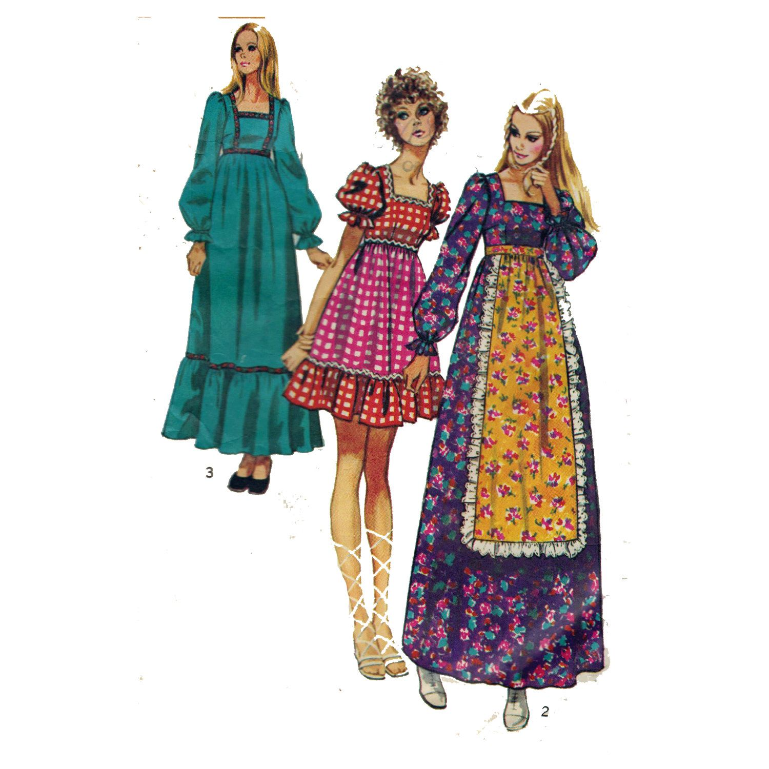 70s Prairie Hippie Boho Dress With Ruffled Skirt Maxi Dress Sewing Pattern Vintage Size 14 Bust 36 Simplicity 9486 Boho Hippie Dress Simplicity Patterns Dresses Maxi Dress Pattern Sewing [ 1500 x 1500 Pixel ]