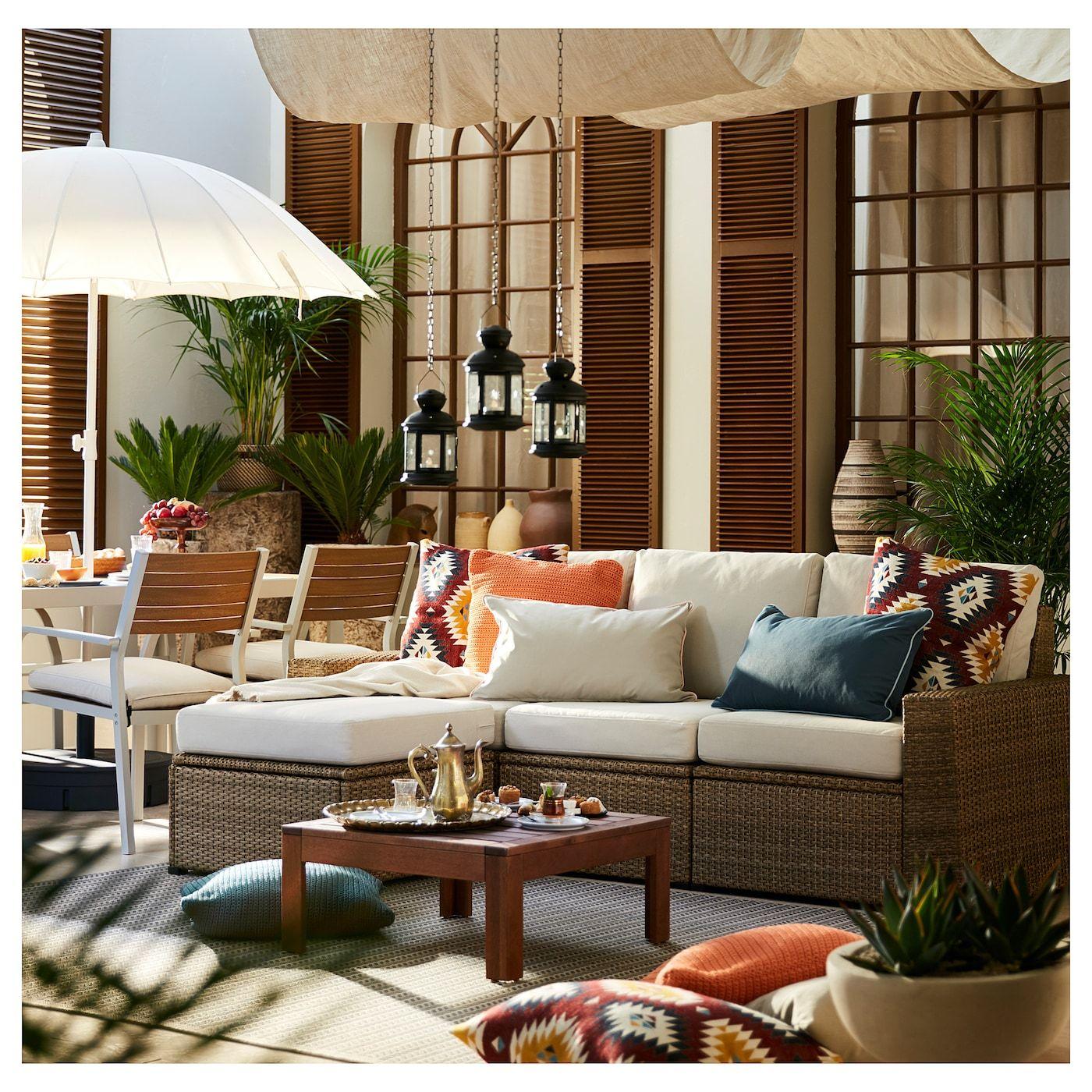 Solleron 3er Sitzelement Aussen Mit Hocker Braun Braun Froson Duvholmen Beige Ikea Osterreich In 2020 Outdoor Living Rooms Outdoor Living Room Modular Sofa