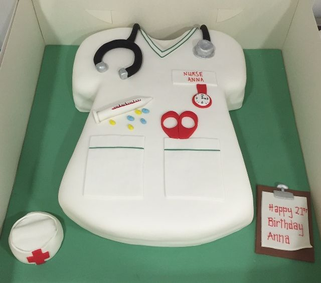 nurse uniform cake Cakes Pinterest Cake and Birthday cakes