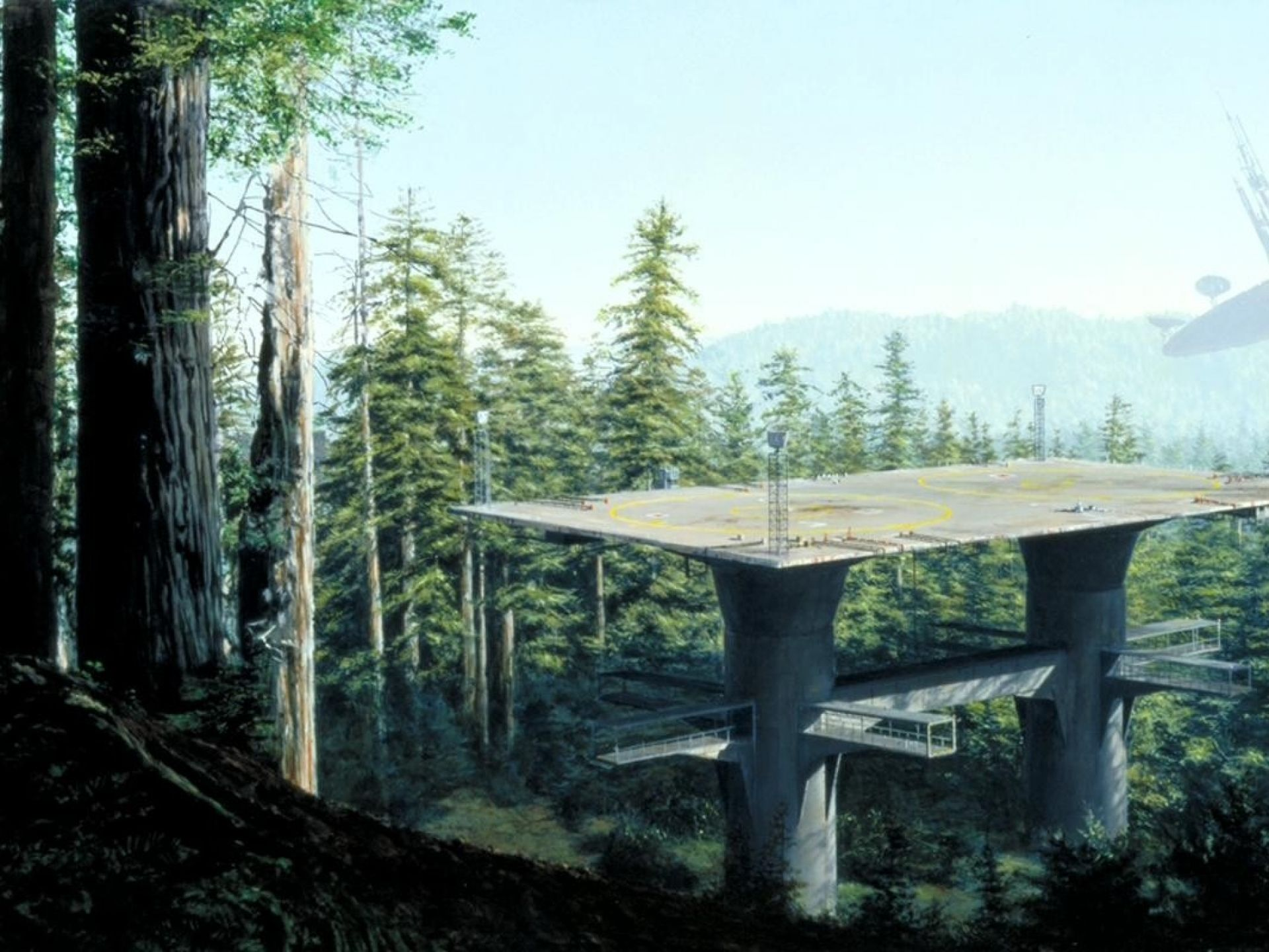 Star Wars Landscapes Trees Movies Futuristic Forest Science Fiction Artwork Endor Wallpaper Matte Painting Classic Star Wars Science Fiction Artwork