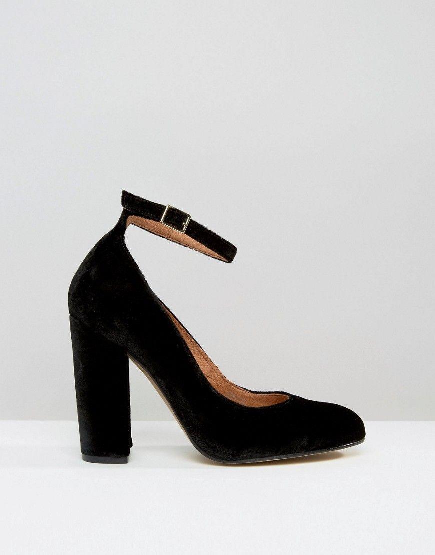 c9edbd645c1 Carvela Adonis Black Ankle Strap Block Heeled Shoes