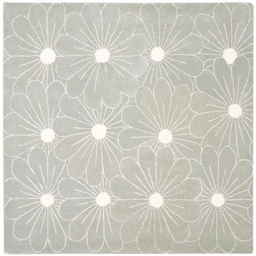 Soho Blue and Ivory Square: 6 Ft. In. x 6 Ft. In. Area Rug - (In Square)