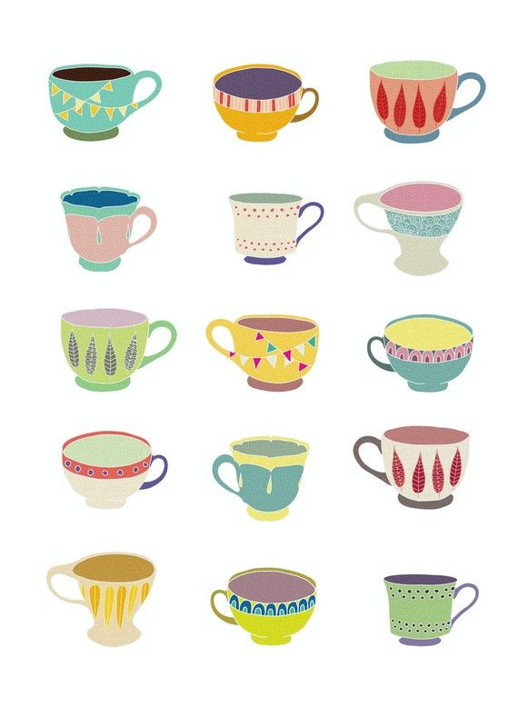 Pin By Yu On Tea Space Tea Cups Lovely Print Print