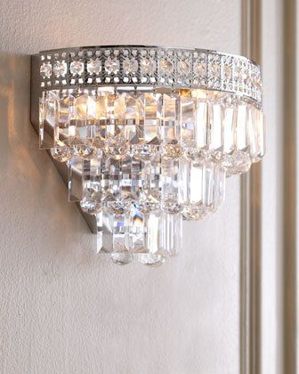 Crystal wall sconce i want it pinterest wall sconces crystal wall sconce aloadofball Image collections