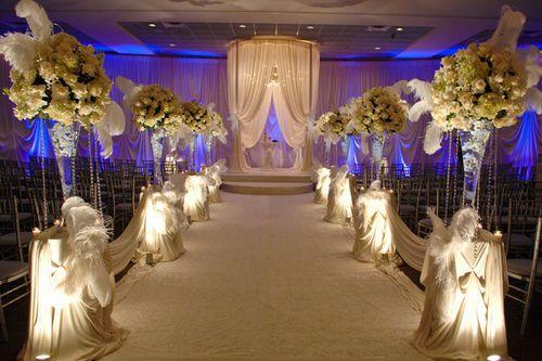 All White Wedding Ceremony