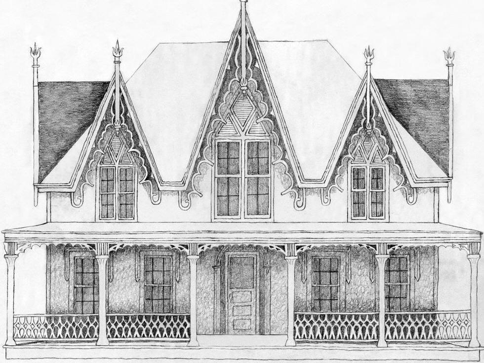 Alittle Bit Of Carpenter Gothic American Gothic House Gothic House Gothic Architecture Characteristics