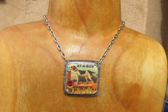 Atta Boy Dog Necklace Sterling Silver &Shrink by RistraRanch