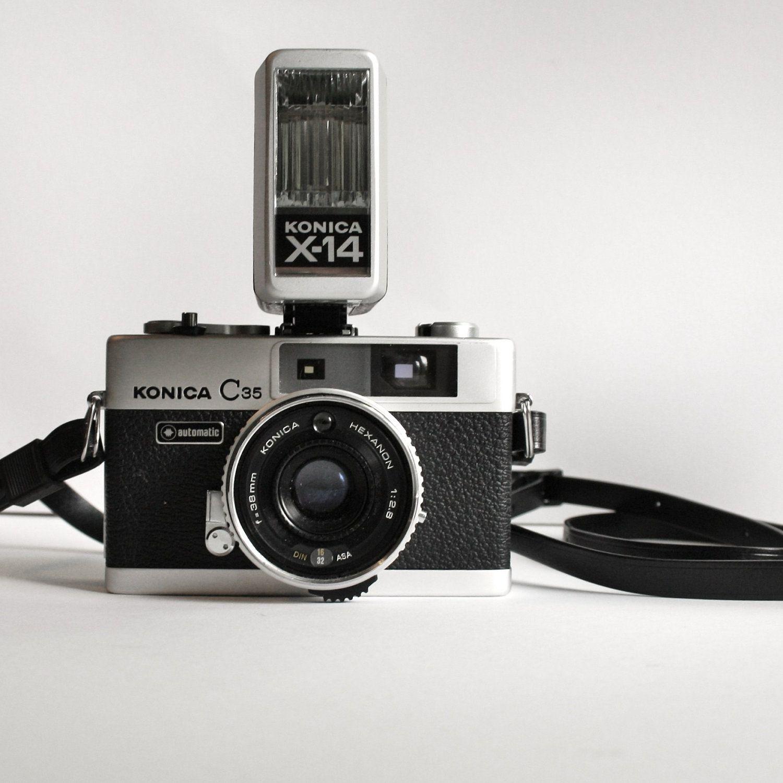 Vintage Stylish Konica C35 Camera. $35.00, via Etsy.