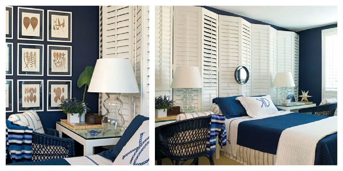 navy and white interior decor | color roundup: using navy blue in
