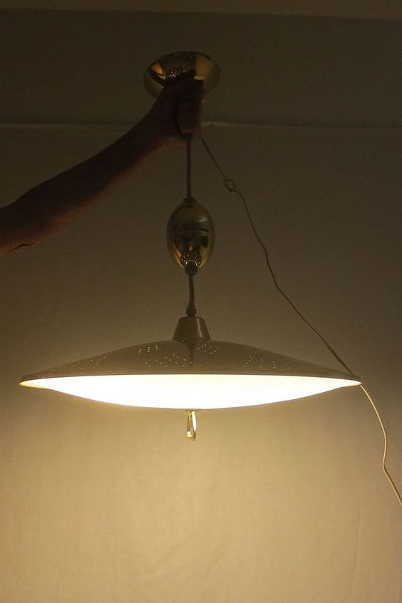 Retractable Swag Lamp From The 60 S Swag Lamp Mid Century Lamp
