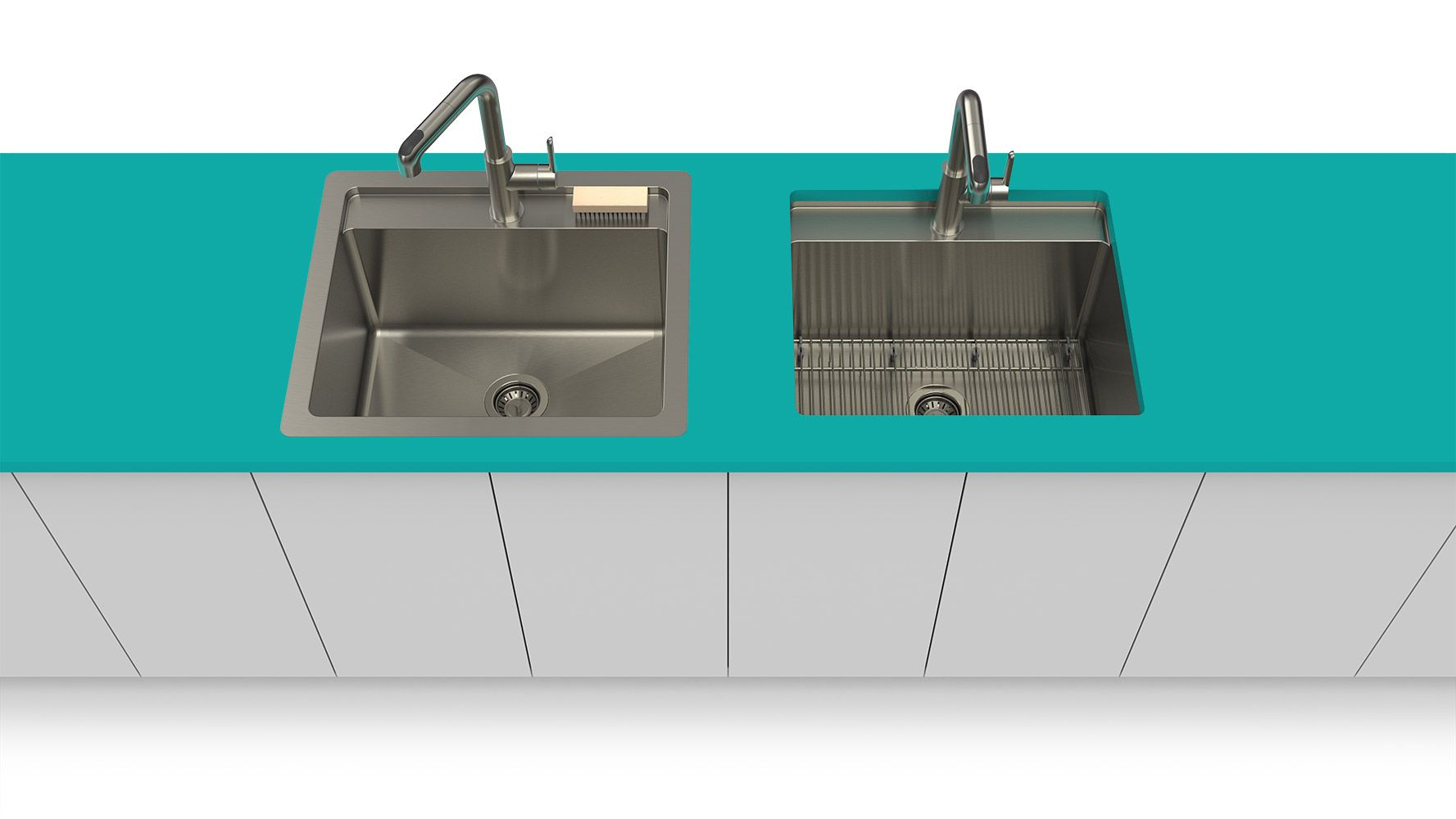 Stainless steel kitchen sinks and fireclay sinks - Prochef | Kitchen ...