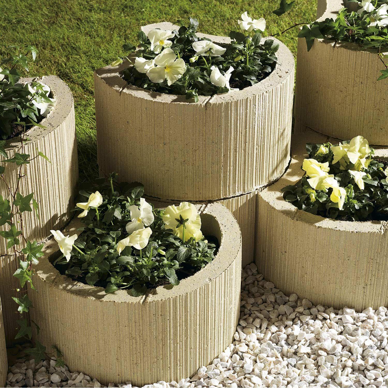 Muret Floral De Soutenement A Planter Floralie Beton Ton Pierre H 20 X L 35 Cm Leroy Merlin Soutenement Salon De Jardin Castorama Muret
