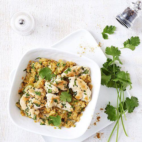 Curry de lentilles au poulet - illico Fresco