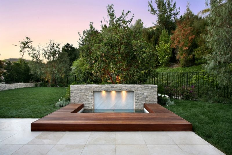 Whirlpool Garten Beleuchtung Holz Terrasse Pool Outdoor Spa