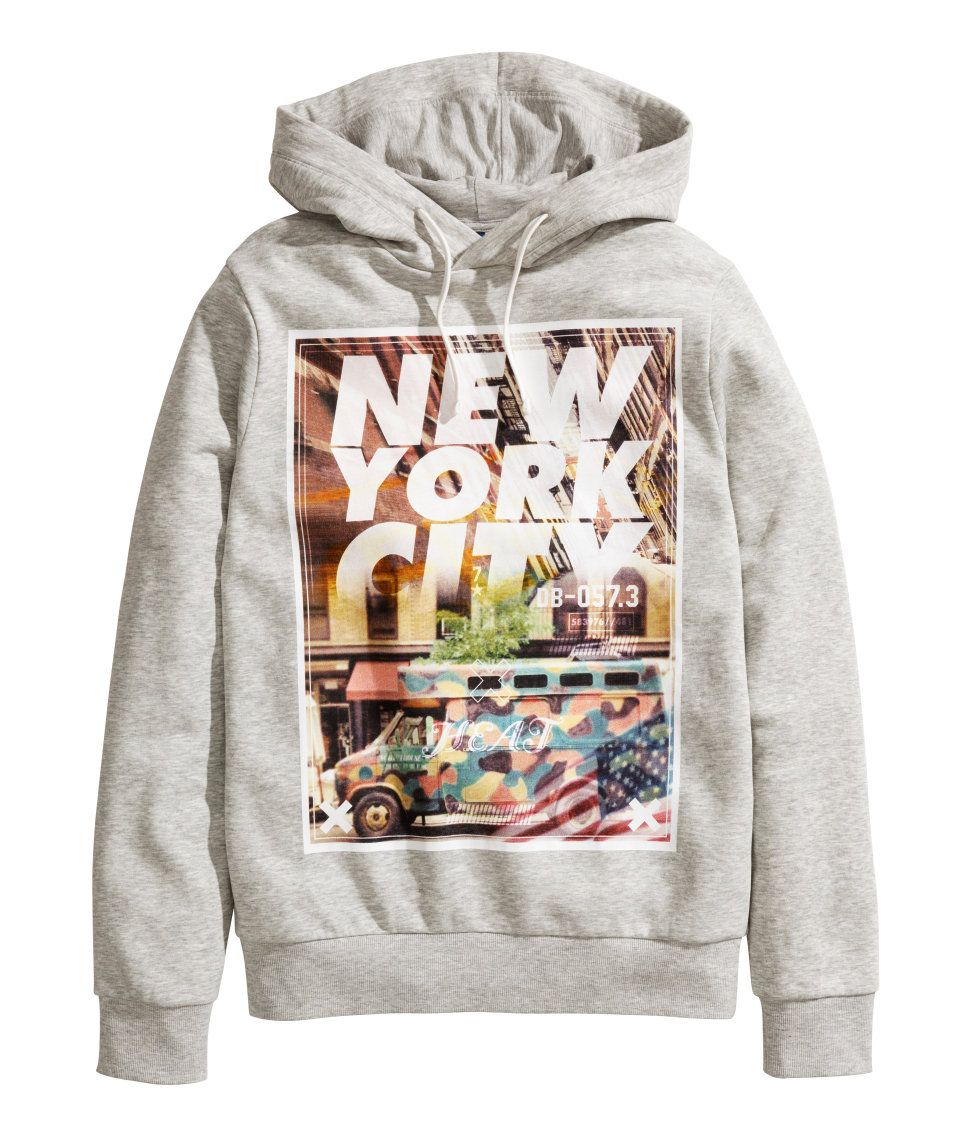 H M Offers Fashion And Quality At The Best Price Printed Hooded Sweatshirt Fashion Hooded Tops [ 1137 x 972 Pixel ]