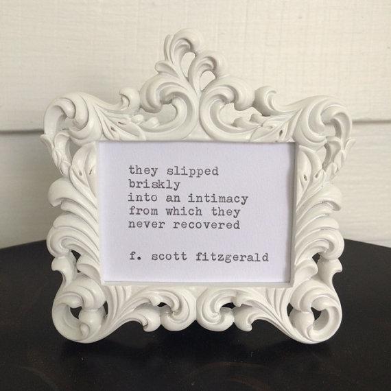 F. Scott Fitzgerald Framed Love Quote Made On Typewriter, typewriter ...
