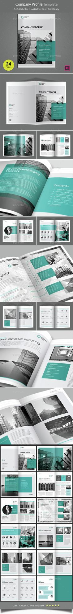 Company Profile Brochure Template InDesign INDD. Download here: http ...