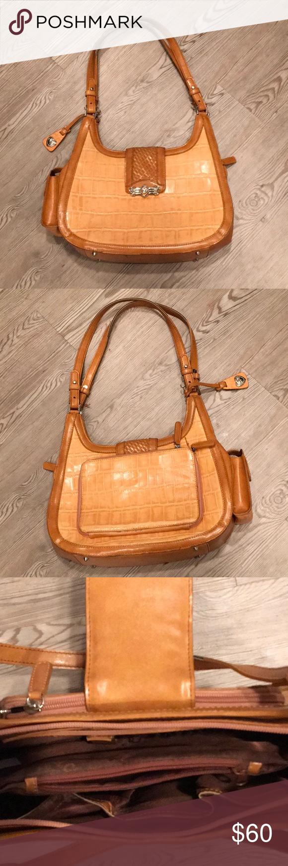 a38eda2536 Marc Chantal Brown leather shoulder bag NWOT Marc Chantal Brown leather  shoulder bag M.C. Bags Shoulder Bags