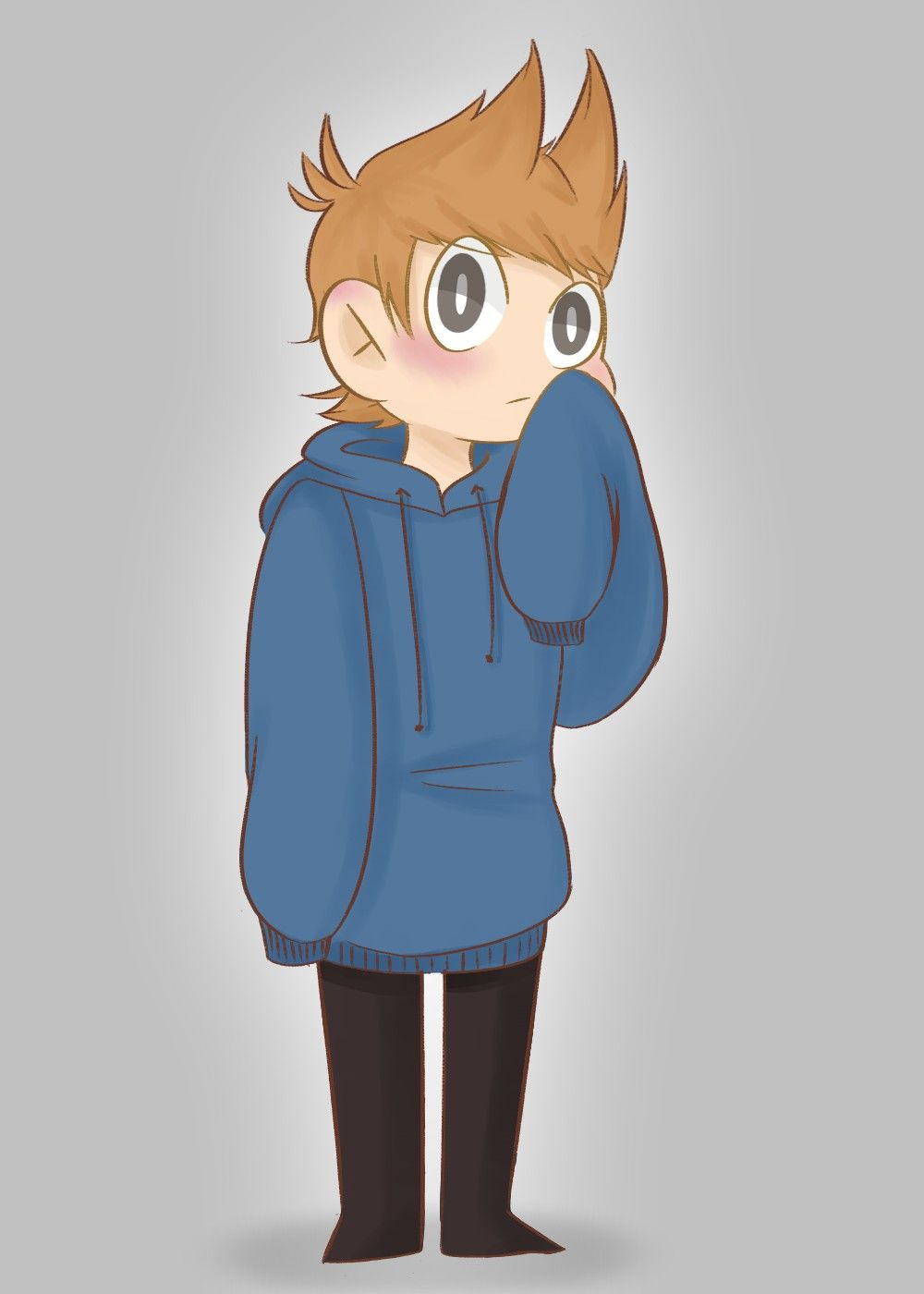 Eddsworld Tord in Tom's hoodie Drawn by watermelon_dinos | Eddsworld