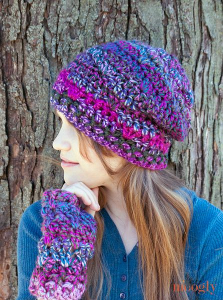 Free Pattern Friday Crochet One Skein Hat And Fingerless Mittens