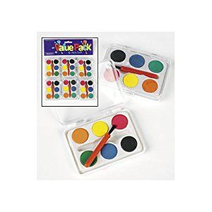 Amazon Com Dozen Mini Kids Watercolor Paint Sets With Brush With