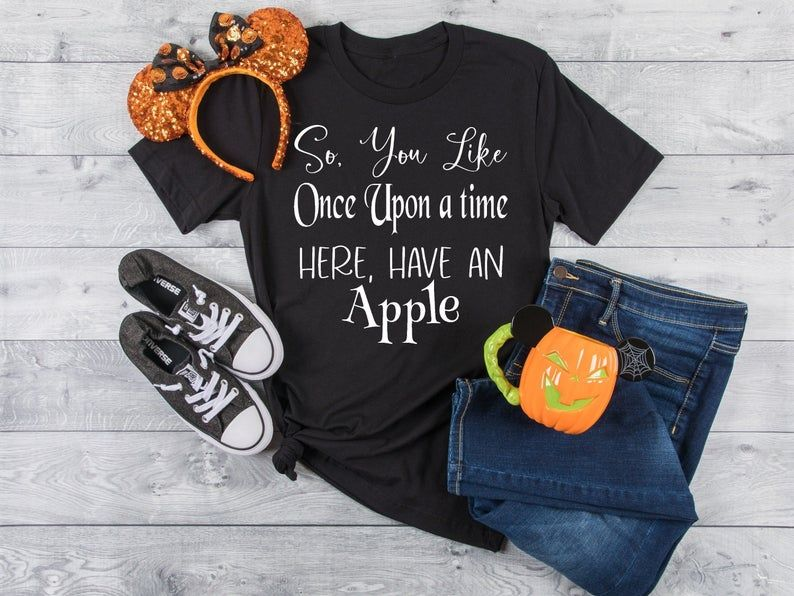 Disney Villain Shirt Disney Villain Evil Queen Shirt Vintage Disney Shirt Poison Apple So You Like Once Upon A Time Here Have An Apple Custom Disney Shirts Cute Disney Shirts Funny