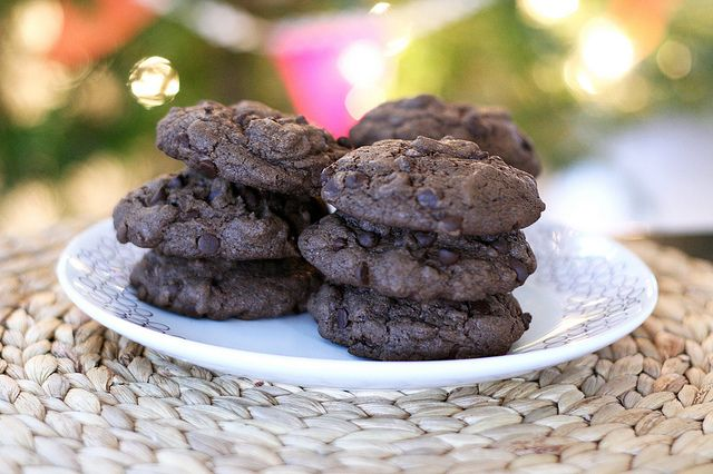 Double Chocolate Peppermint Cookies - Gluten-free and Dairy-free (I'd like to try these with less sugar or a sugar alternative this year)