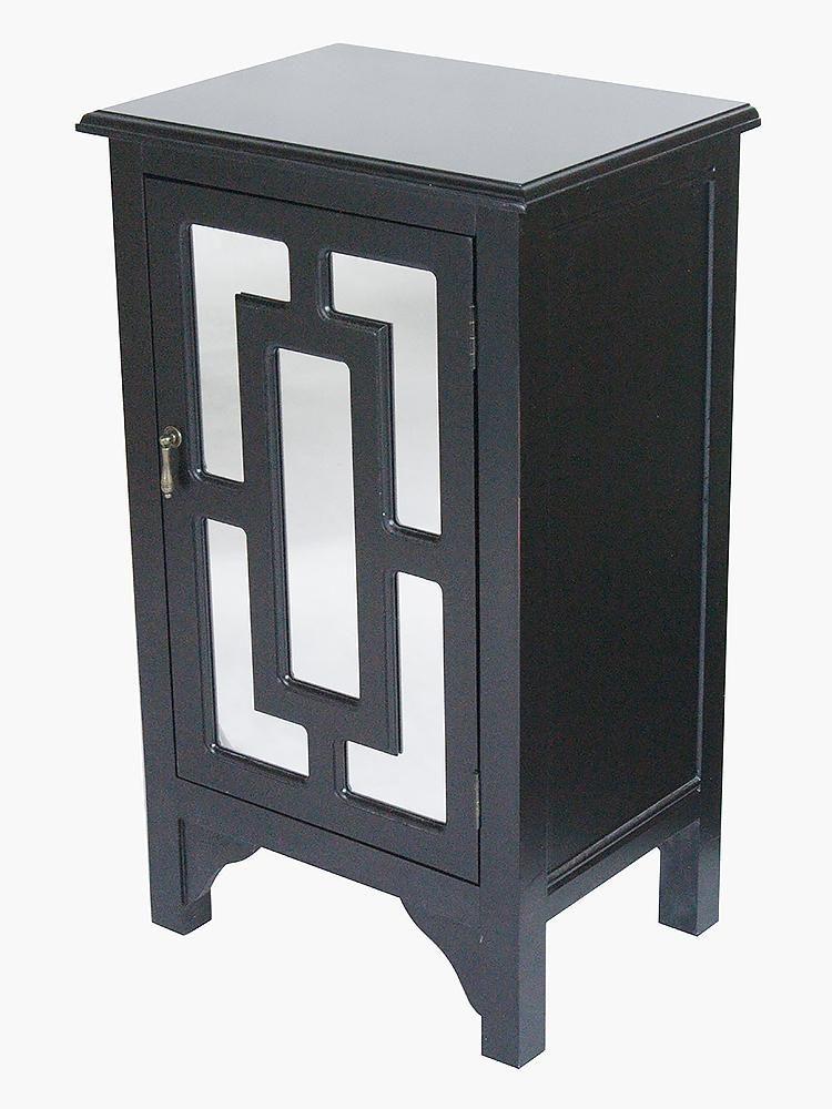 Best 1 Door Accent Cabinet W Lattice Mirror Inserts Mdf 400 x 300