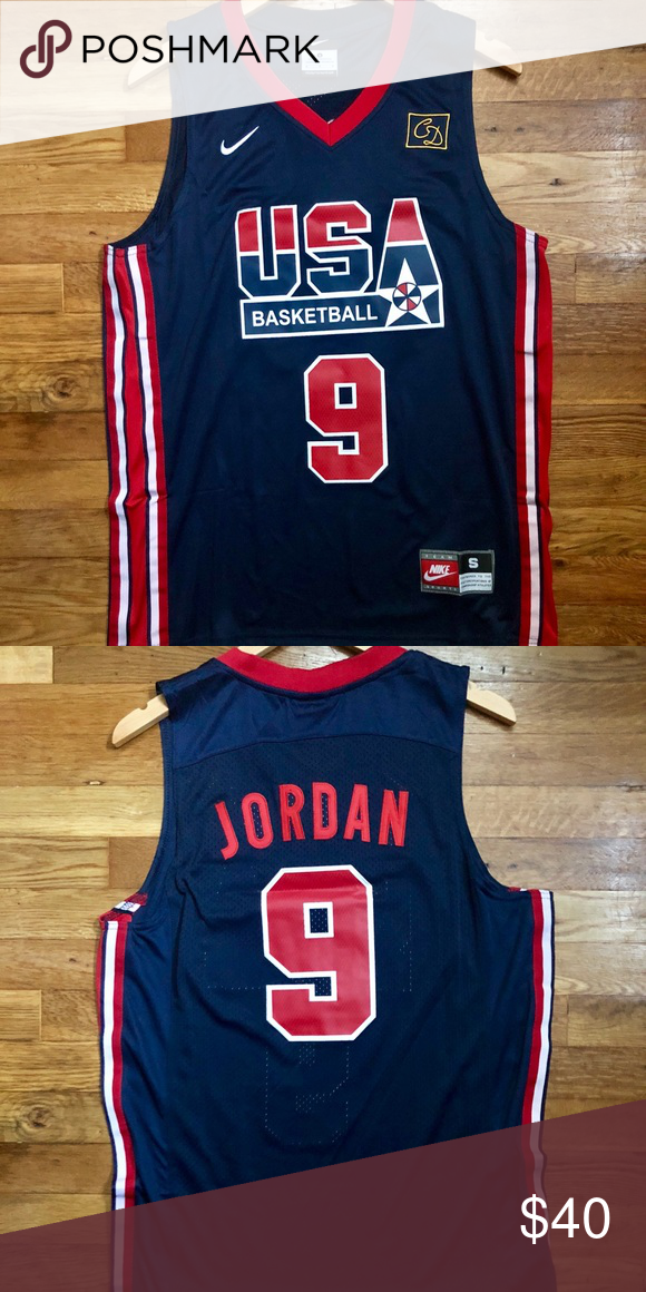 more photos d3209 0e39d Michael Jordan Chicago Bulls USA Jersey Small NWT Brand New ...