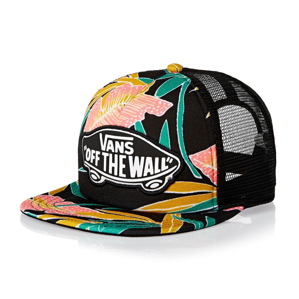 a707e936faffa Vans Beach Girl Trucker Cap - Black Tropical