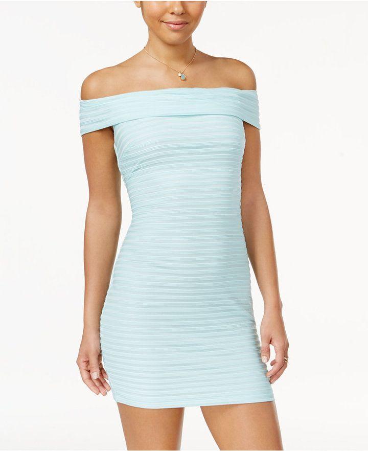 3e9970378576 B. Darlin Juniors  Off-The-Shoulder Bodycon Dress Junior Dresses