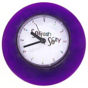 Horloge ventouse pour salle de bain so city violet envie de violet pinterest purple - Horloge de salle de bain ventouse ...