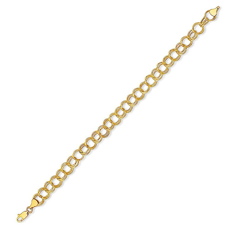 14k 9in Polished Anchor Link Anklet Length 9 Width 2