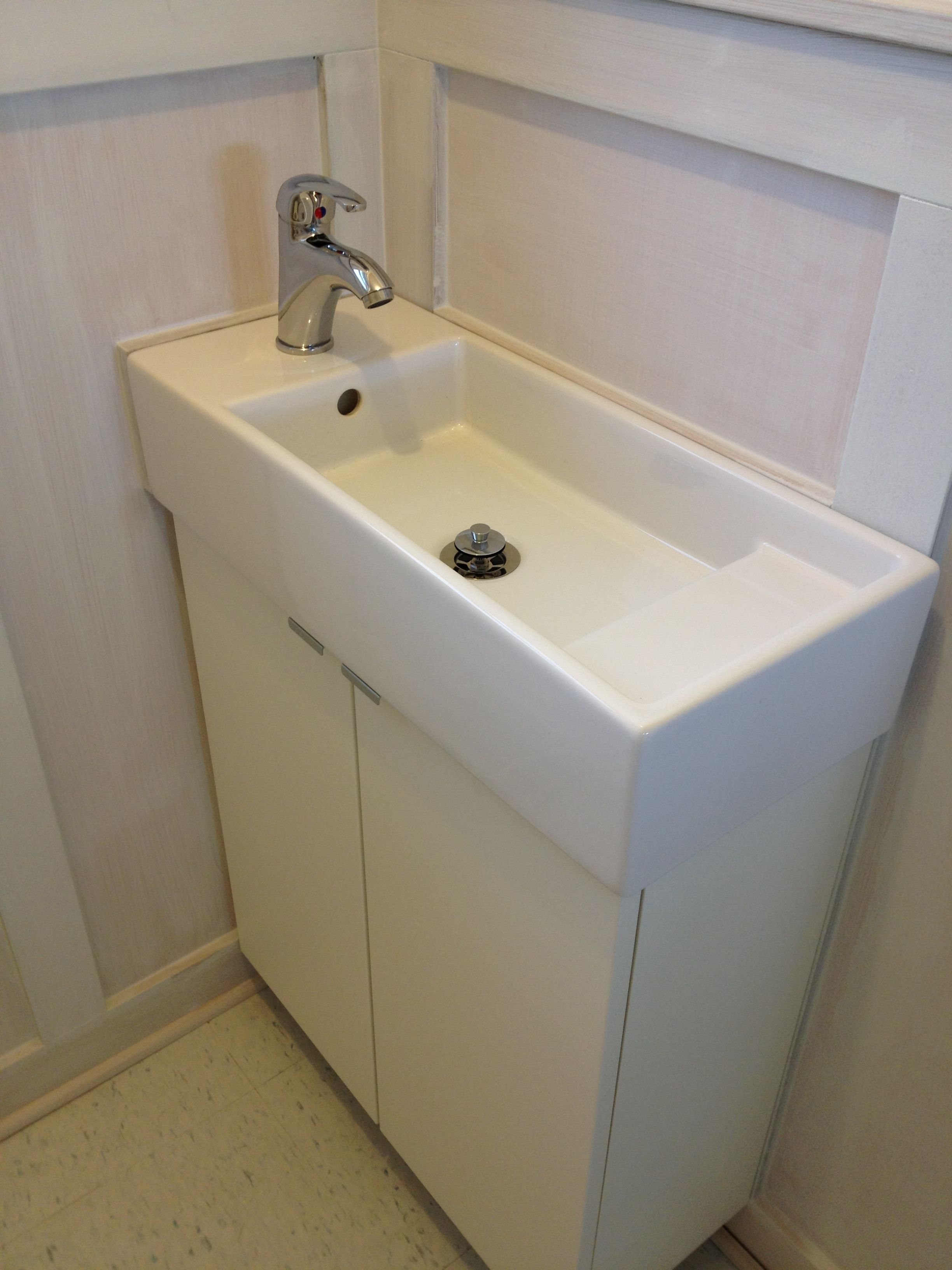 Pair Ikea Narrow Bath LillÅngen Cabinet With The Sink