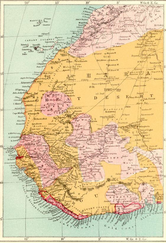 Western Sahara Desert Map 1886 Maps Pinterest Desert map and
