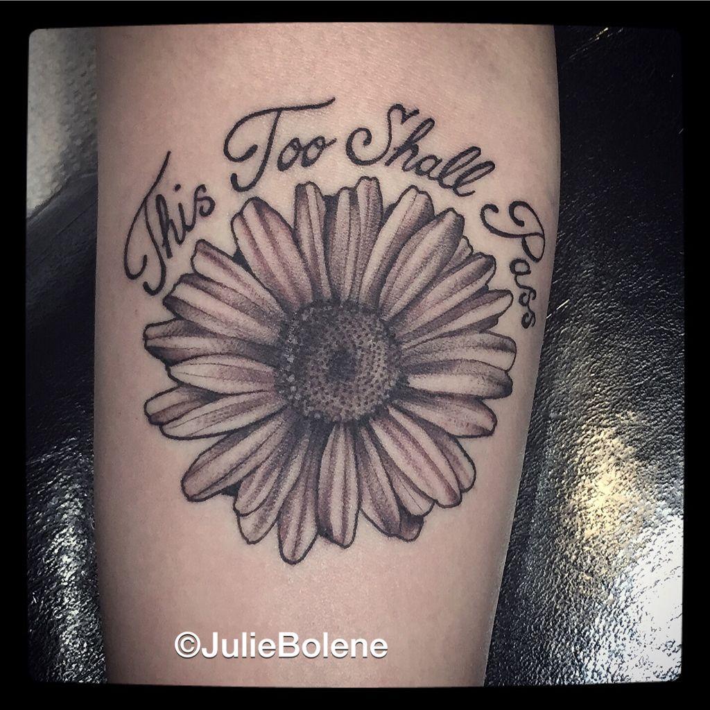 Black And Grey Daisy Tattoo By Julie Bolene Tattoos By Julie