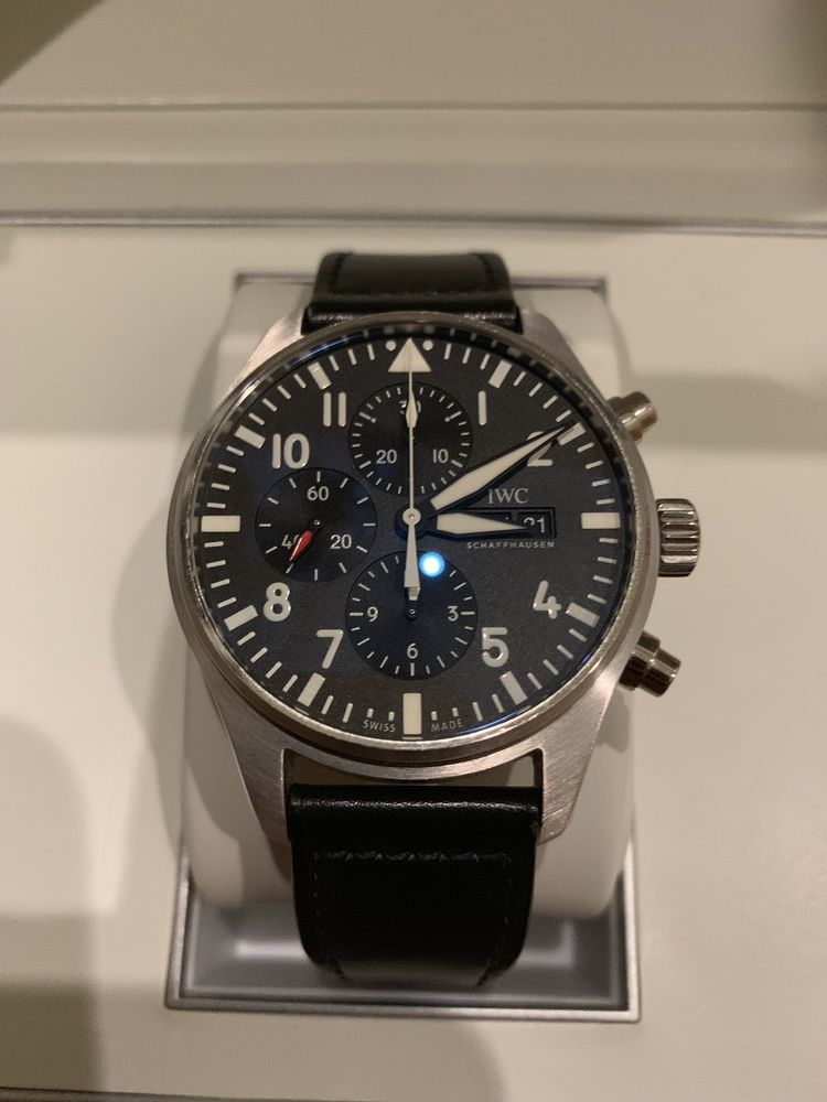 b2b3cd115c7 IWC Pilot IW377709 Automatic 43mm Stainless Steel Chronograph Men s Watch