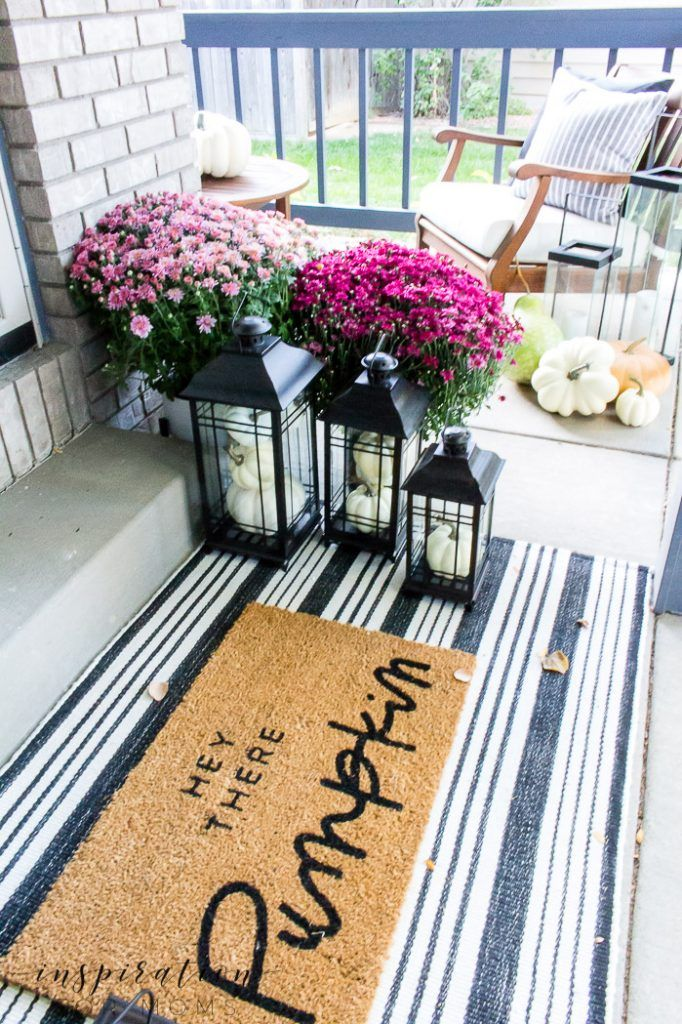 Decorating the Front Porch for Fall with Pretty Plum - Inspiration For Moms