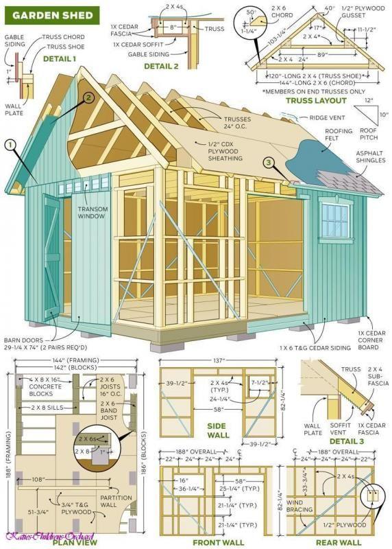 1000 Woodworking Plans Images Hosted At Biggerbids Com Maison Plan Abris De Jardin Cabanon De Jardin Et Abri De Jardin