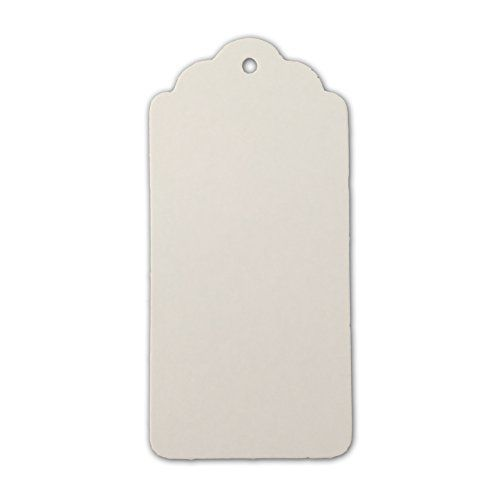 """LWR Crafts 100 Hang Tags Scalloped Top Rectangle with Jute Twines 100ft (3 3/4"""" x 1 3/4"""", White) LWR Crafts http://smile.amazon.com/dp/B00SH90PEC/ref=cm_sw_r_pi_dp_suwxwb1X2R95B"""