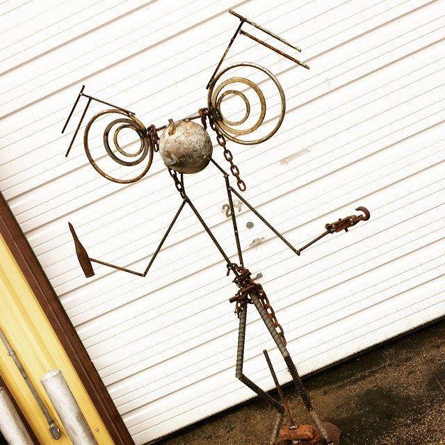 https://flic.kr/p/rybLXE | 7 ft tall Tribal Dude by Recycled Salvage Design http:// www.recycledsalvage.com #recycledsalvagedesign #RECYCLEDSALVAGE #recycledart #REPURPOSEDFURNITURE #upcycled #upcycledfurniture #art #artfurniture #metalart #weldedart #raymondguest #coffeetable #fur